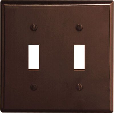 Leviton 2 gang Brown Thermoset Plastic Toggle Wall Plate 1 pk
