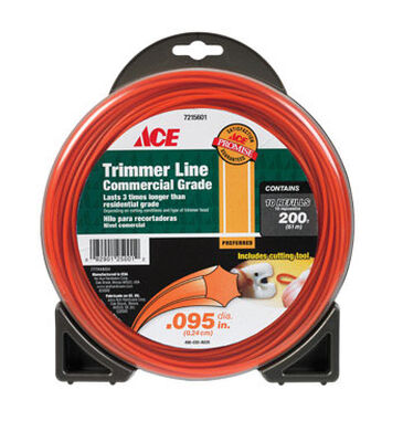 Ace Commercial Trimmer Line 0.095 in. Dia. x 200 ft. L 10 refill