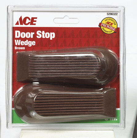 Ace Rubber Wedge Door Stop 5 in. L Brown