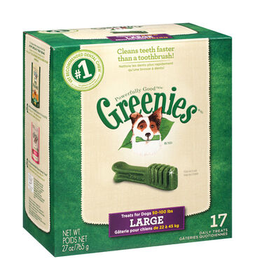 Greenies Large Adult Dog Treats 27 oz. 17 pk