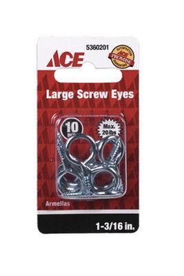 Ace 3/8 1-3/16 in. L Zinc-Plated Steel Screw Eye 10 pk