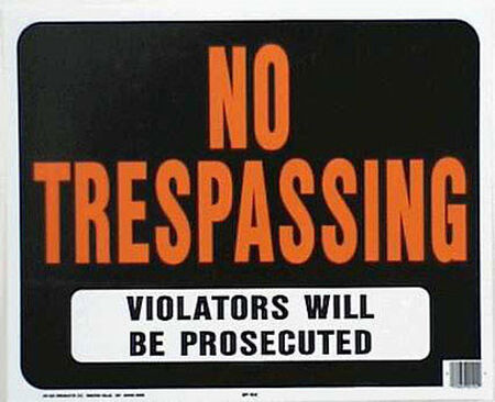 Hy-Ko English 15 in. H x 19 in. W Plastic Sign No Trespassing - Violators will be Prosecuted