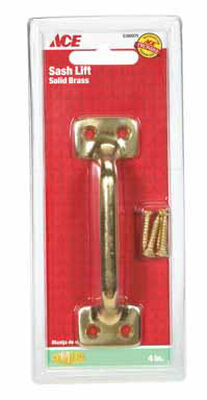 Ace 4 in. L Universal Sash Solid Brass 1 Brass