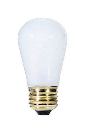 Westinghouse Incandescent Light Bulb 11 watts 60 lumens 2700 K S14 White (Frosted) Medium Base (