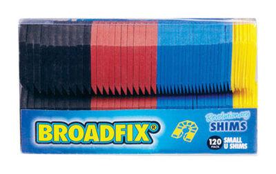 Broadfix Small U Shims 2.2 in. L x 1.8 in. W Plastic 120 pk