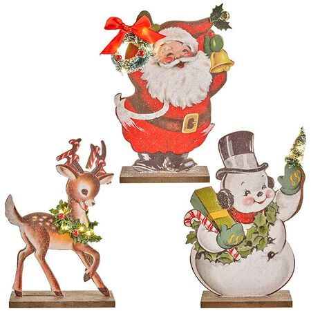 "10"" Santa and Deer Cut Out"