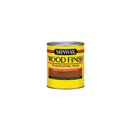 Minwax Wood Finish Semi-Transparent English Chestnut Oil-Based Oil Wood Stain 0.5 pt.