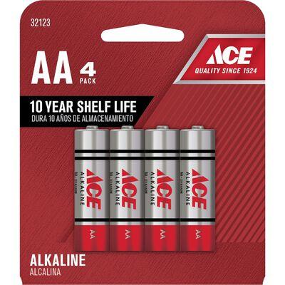 Ace AA Alkaline Batteries 1.5 volts 4 pk