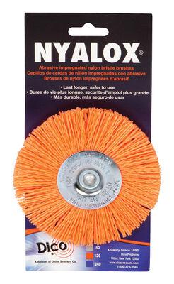 Nyalox Dico 4 in. Dia. Coarse Crimped Wire Wheel Brush 2500 rpm