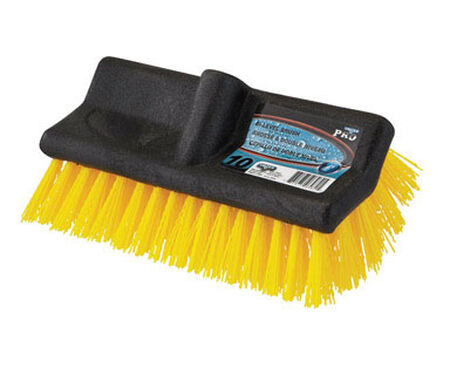 Unger 10 in. W Rubber Water Flow Stiff Bristle Brush