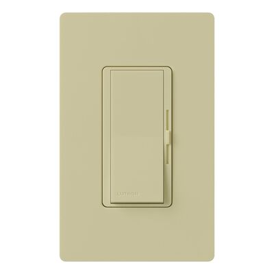 Lutron Diva 5 amps 600 watts Slide Dimmer Switch Ivory