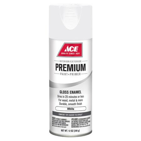 Ace Premium Gloss White Enamel Spray Paint 12 oz.
