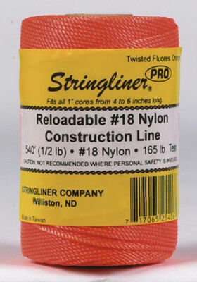 Stringliner Twisted Fluorescent Orange Chalk Line Refill 540 ft. L x 1/2 lb.