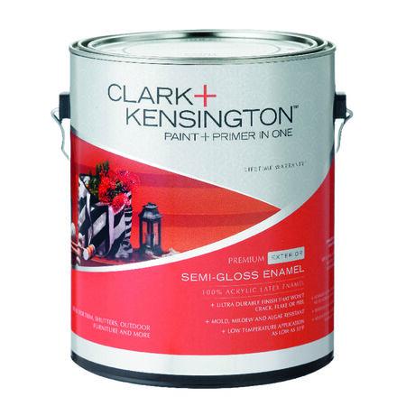 Clark+Kensington Exterior Exterior Acrylic Latex Enamel Paint Ultra White 1 gal.