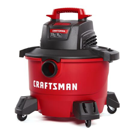 Craftsman 6 gal. Corded 3-1/2 hp 110 volts Wet/Dry Vacuum