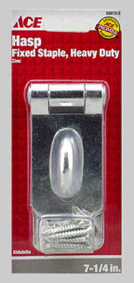 Ace Zinc Fixed Staple Safety Hasp 7-1/4 in. L