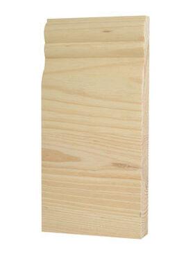 Alexandria Moulding Casing Trim Block Pine 7-3/4 in. H x 3-1/2 in. W x 1 in. D