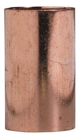 Elkhart 1/2 in. Dia. x 1/2 in. Dia. Sweat To Sweat Copper Coupling With Stop