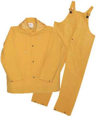 Boss Yellow PVC-Coated Polyester Three Piece Rain Suit XXX-Large