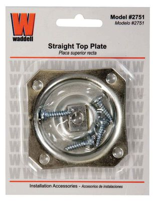 Waddell Mounting Plate 5/16 in. Straight Design
