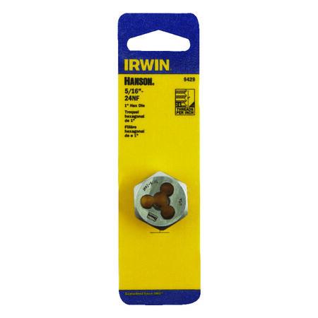Irwin Hanson High Carbon Steel 5/16 in.-24NF SAE Hexagon Die 1