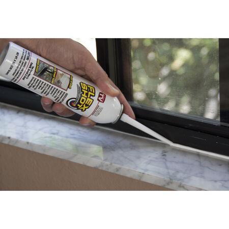 Flex Shot White Acrylic Rubber All Purpose Sealant 8 oz Can oz.