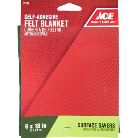 Ace Felt Square Blanket Green 6 in. W x 18 in. L