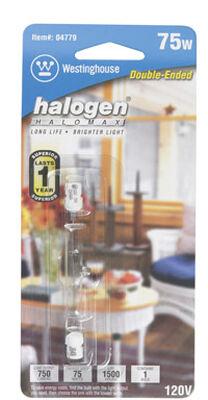 Westinghouse Halogen Light Bulb 75 watts 1050 lumens Double-Ended T3 3.07 in. L White 6 pk