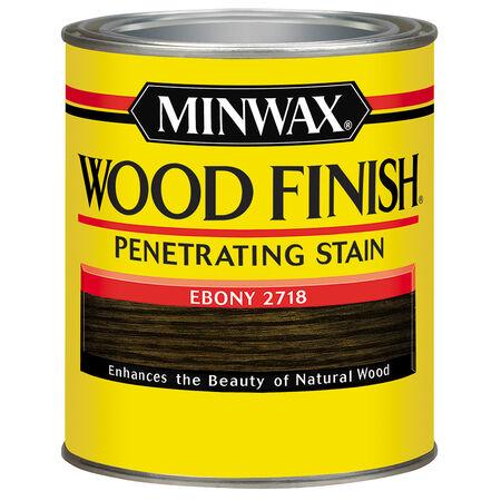 Minwax Wood Finish Semi-Transparent Ebony Oil-Based Wood Stain 0.5 pt.