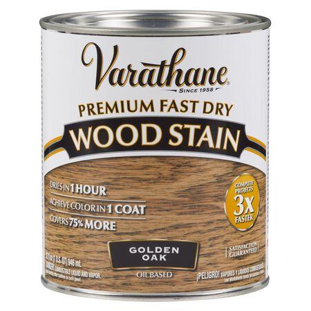 Varathane Premium Fast Dry Semi-Transparent Oil-Based Wood Stain Golden Oak 1 qt.