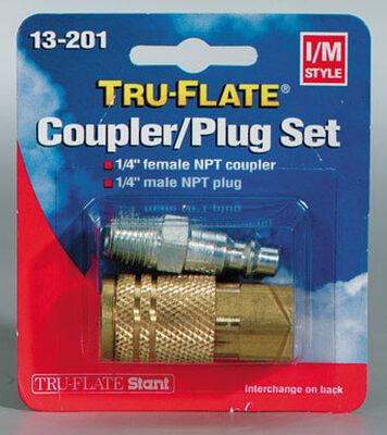 Tru-Flate Brass/Steel Coupler/Plug Set Female/Male I/M