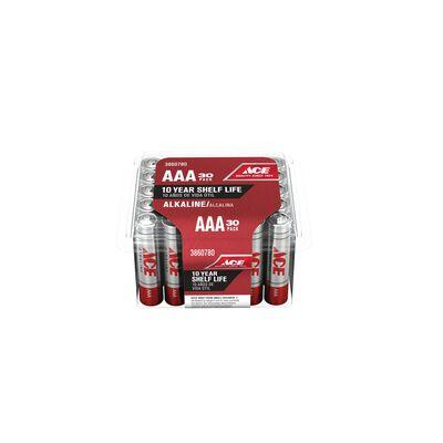 Ace AAA Alkaline Batteries 1.5 volts 30 pk