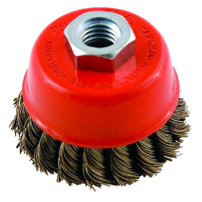 Forney 2.75 in. Dia. 0.625 Cup Brush