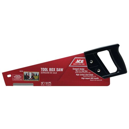 Ace Tool Box Saw 15 in. L Plastic Handle