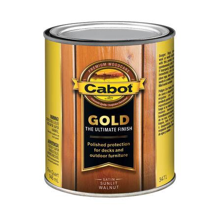 Cabot Gold Satin 3471 Sunlit Walnut Deck Varnish 1 qt.