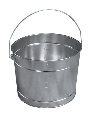 Leaktite Metal Bucket 5 qt. Silver