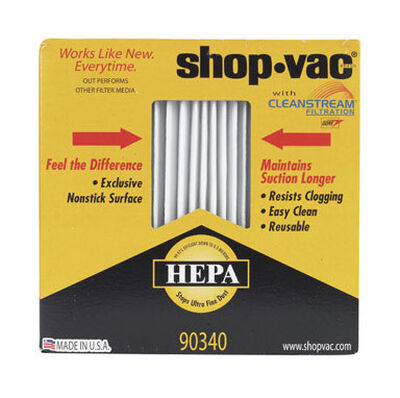 Shop-Vac Wet/Dry Vac Filter Cartridge 5 1 pk HEPA