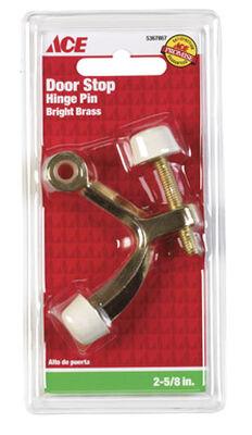 Ace Metal Hinge Mount Door Stop 2-5/8 in. L Bright Brass
