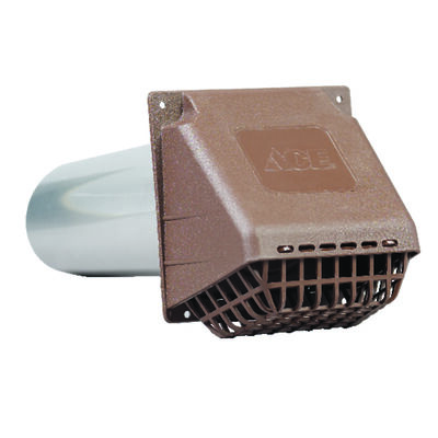 Ace Dryer Vent Hood 4 in. W Brown