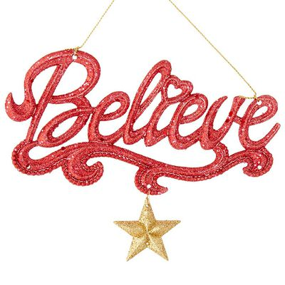 "6.25"" Believe Ornament"
