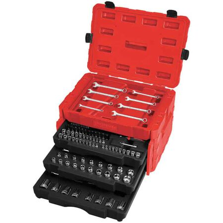 Craftsman 1/4, 3/8 and 1/2 in. drive Metric and SAE 6 and 12 Point Mechanic's Tool Set 227 pc.