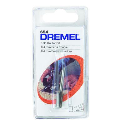 Dremel 1/4 in. Dia. HSS 1-Flute Straight Router Bit