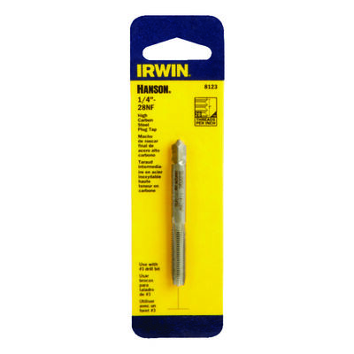 Irwin Hanson High Carbon Steel 1/4 in.-28NF SAE Fraction Tap 1 pc.