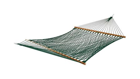 Castaway Rope Hammock 60 in. W x 118 in. L Polyester Green