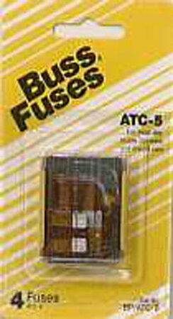 Bussmann 5 amps ATC Automotive Blade Fuse 5 pk