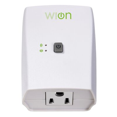 Woods WiOn 3-Prong Electrical WiFi Outlet 15 amps 1-15P 125 volts White