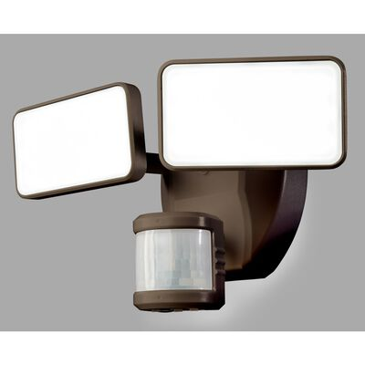 Heath Zenith Wired Security Light Bronze Plastic Motion-Sensing LED 110 volts 27 watts