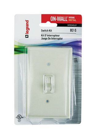 Wiremold 1-1/8 in. H 1 Gang Rectangle Outlet Box Ivory Plastic