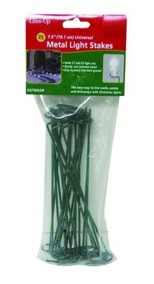 Dyno Christmas Light Stakes Green Metal 25 pk