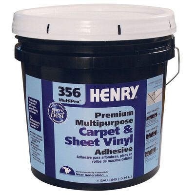 Henry 356 MultiPro Premium Multipurpose Carpet & Sheet Vinyl Adhesive 4 gal.